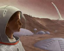 NSS Kickstarter campaign image: Mars from a Young Perspective.